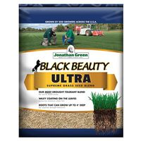 Jonathan 10322 Black Beauty Ultra Grass Seed, 7 lb, Bag, 2800 sq-ft, Naturally Dark Green