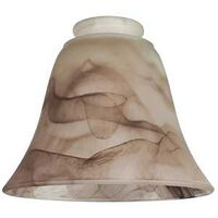 "Pendant Light Shade, 2.25"" x 4.5"" Brown Swirl"