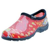 PAISLEY RED GARDEN SHOE SIZE 6