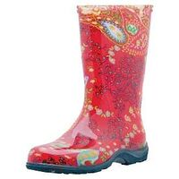 TALL BOOT PAISLEY RED SIZE 7