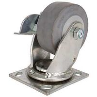 "Thermoplastic Rubber  Swivel Plate Caster, 4"" x 2"""