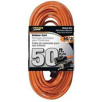 Extension Cord, 16/3 x 50&#39; Orange
