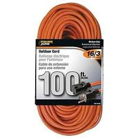 Extension Cord, 16/3 x 100' Orange