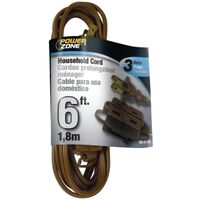 Extension Cord, 16/2 x 6' Brown