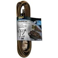 Extension Cord, 16/2 x 12' Brown