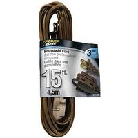 Extension Cord, 16/2 x 15' Brown