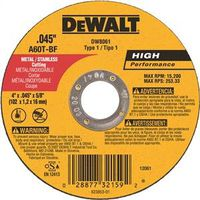 Dewalt DW8061 Type 1 Reinforced Cut-Off Wheel