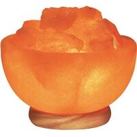 Himalayan Salt Bowl Lamp, 7-10 Lbs