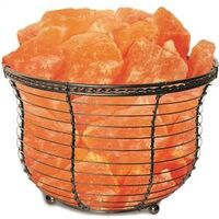 Himalayan Salt Basket Lamp, 9-11 Lbs