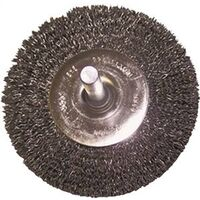 """Crimped Radial Wire End Brush, 3"""""""