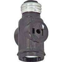 Cooper BP715B Polarized Lampholder Adapter with Keyless Switch