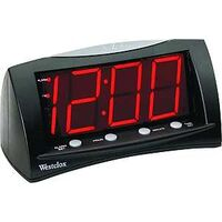 Red Display LED Alarm Clock, Black