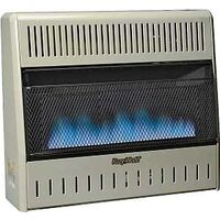 Dual Fuel Vent Free Blue Flame Wall Heater with Thermostat, 30,000 Btu