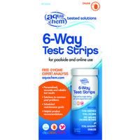 Six Way Pool Test Strip, 50 Pk