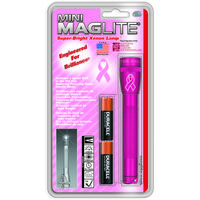 Pink Mini Maglite with NBCF Logo