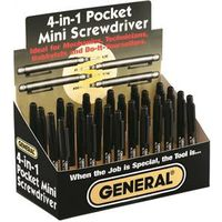 General Tools 744DB 4-In-1 Mini Pocket Multi-Bit Screwdriver
