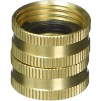 "Brass Connector, 3/4"" F x 3/4"" F"