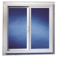 Duo-Corp 2020TMUT Double Slider Utility Window, 2 X 2 ft, Solid Vinyl