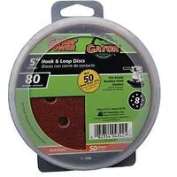 GatorGrit Hook & Loop Sanding Disc 80 Grit, 5""