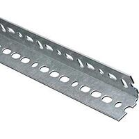 "Plated Steel Slotted Angle, 1 1/2"" x 1 1/2"" x 1'"