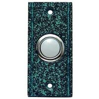 Stepped Edge Lighted Doorbell Button, Verde