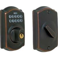 Electronic Key Pad Deadbolt, Aged Bronze