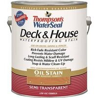Thompsons Water Seal Deck &amp; House Oil Stain, 1 Gal Cedartone