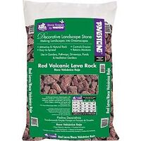 Red Lava Decorative Landscape Stone, 5 Cu&#39;