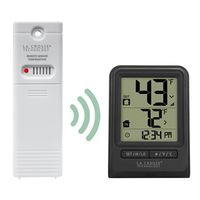 La Crosse 308-1910 Weatherstation Alarm Wireless Thermometer With Time