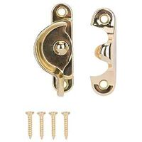 SASH LOCK 2-1/2IN BRASS PLATED