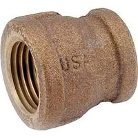 "Low Lead Brass Reducing Coupling, 1/2"" x 3/8"""
