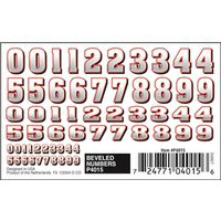 TRANSFER DRY BEVELED NUMBERS