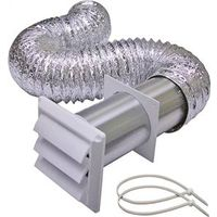 Lambro 1379W Louvered Dryer Vent Kit
