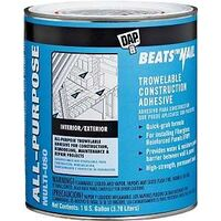 Dap Beats The Nail Construction Adhesive, 1 Gal Tan