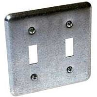 Two Gang Toggle Switch Cover, Metal