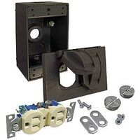 Duplex Receptacle Cover Kit, Bronze