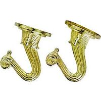 Ceiling Hooks, 2pk Polished Brass
