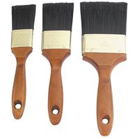 3PC WOOD HANDLE BRUSH SET