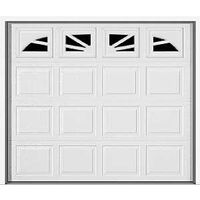 Garage Door with Williamsburg Windows, White