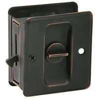Oil Rub Bronze Sliding Door Lock