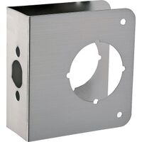"Door Reinfocer, 4 1/4"" x 4 1/2"" Brushed Nickel"