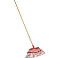 "Leaf Rake with Wood Handle, 19"" x 54"""