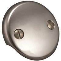 Two Hole Face Plate with Screws, Brushed Nickel