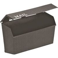 Plastic Horizontal Mailbox, Black