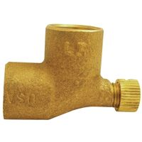 "1/2"" Cxc 90 Degree Vent Elbow with Cap Cast"
