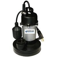 Burcam Submersible Sump Pump With Mechanical Float Switch