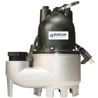 Burcam 300608 Submersible Sump Pump With Mechanical Float Switch