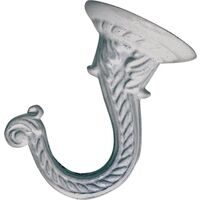 Decorative Ceiling Hook, White