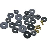 Rubber Flat Faucet Washers, 24 Pc