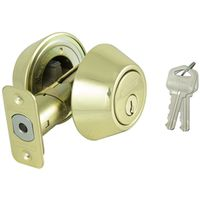 DEADBOLT DBL CYL PB KA3 BOX PK